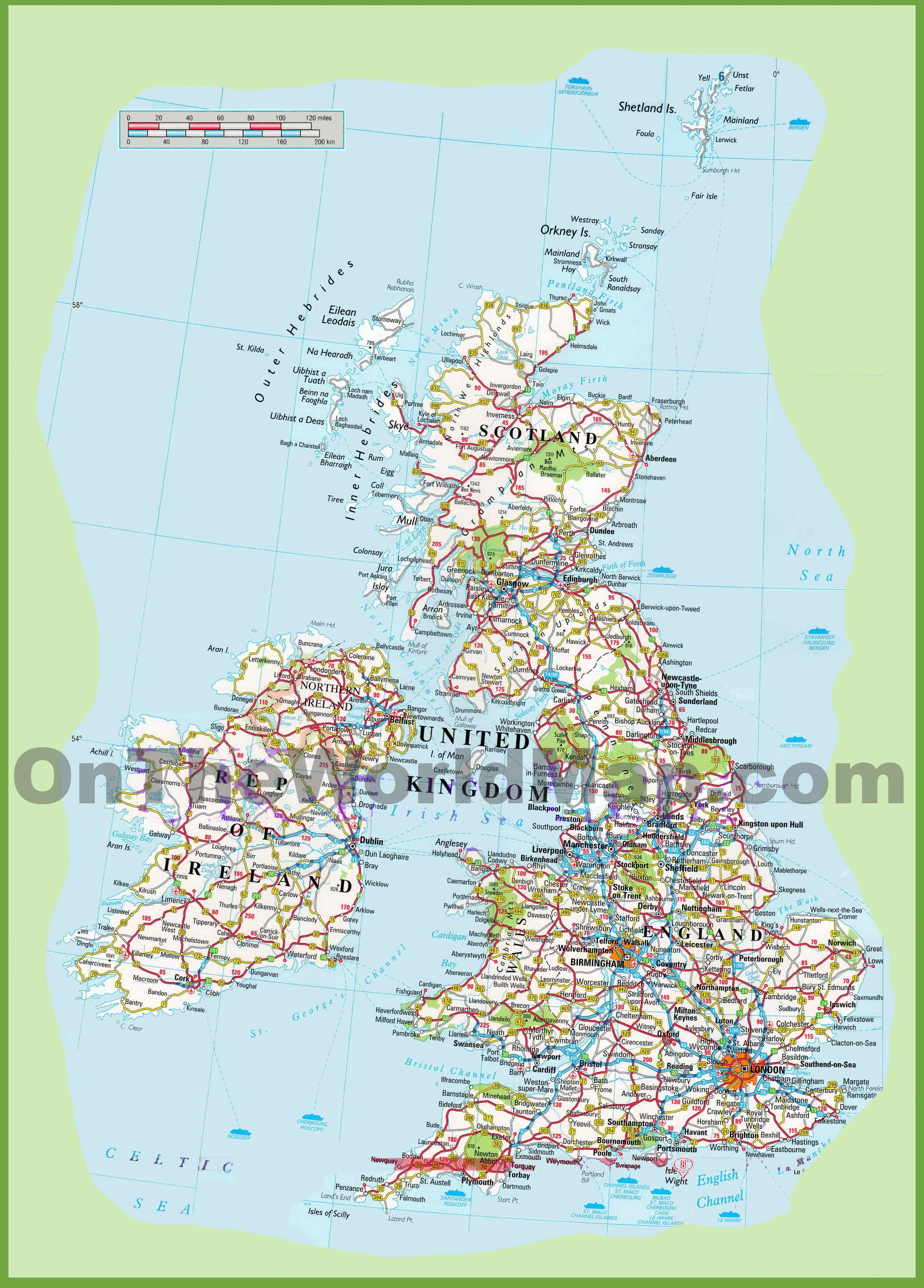 Detailed Road Map Of England Afp Cv