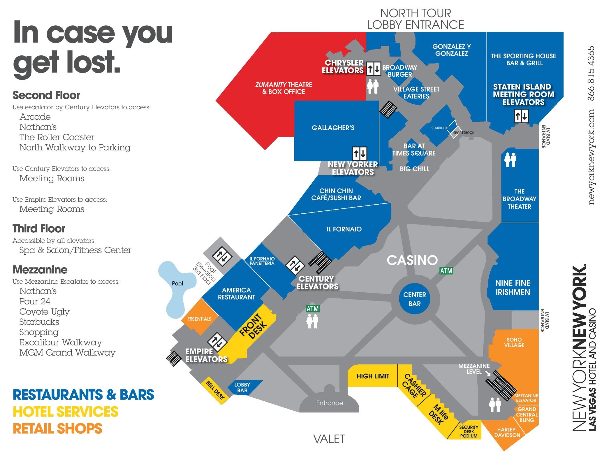 Map Las Ny Rooms Vegas Ny