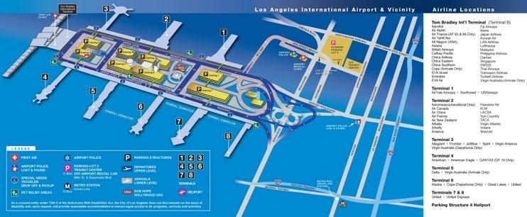 Airports Map Around La