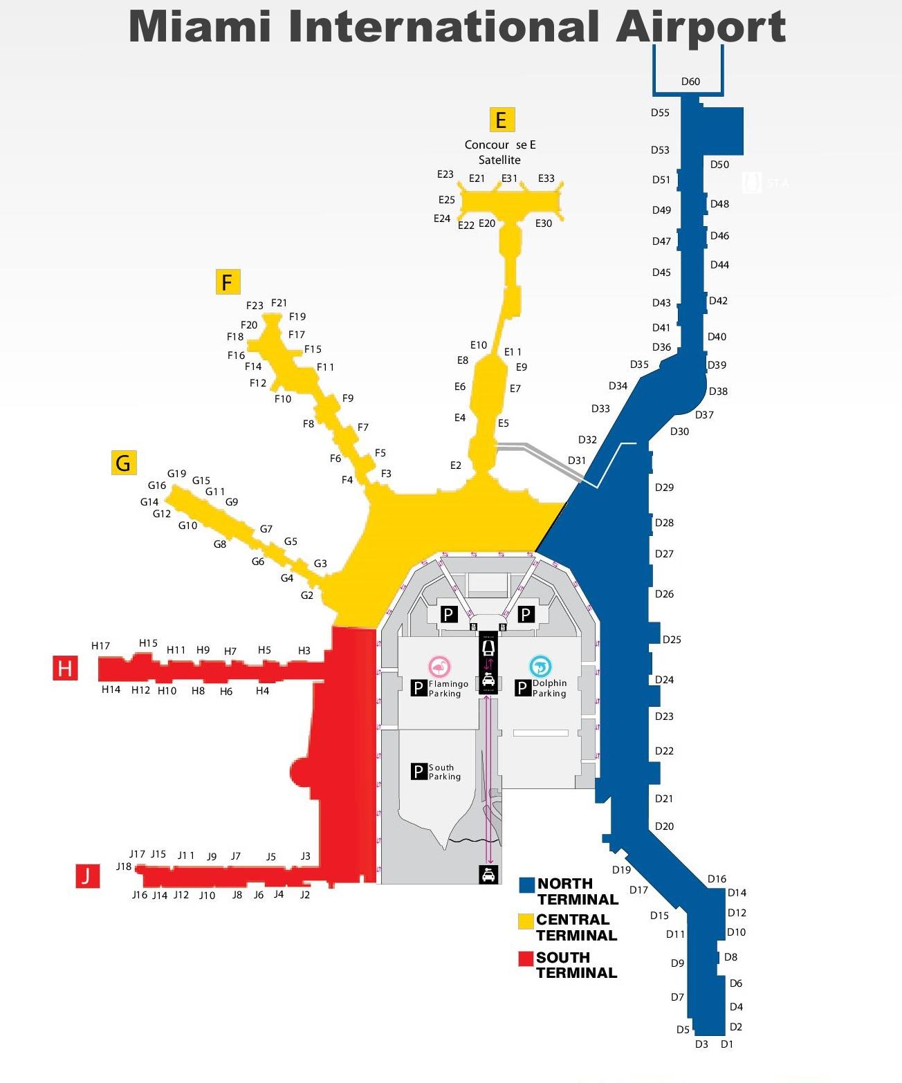Philadelphia Airport Map Terminal D - Philadelphia terminal map