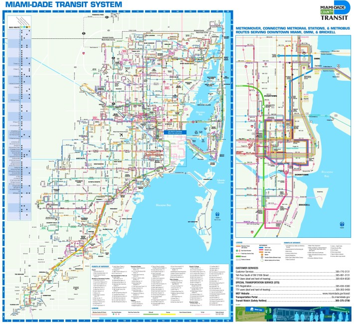 map of miami bus routes - ustrave