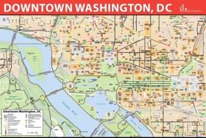 Washington, DC downtown bike map