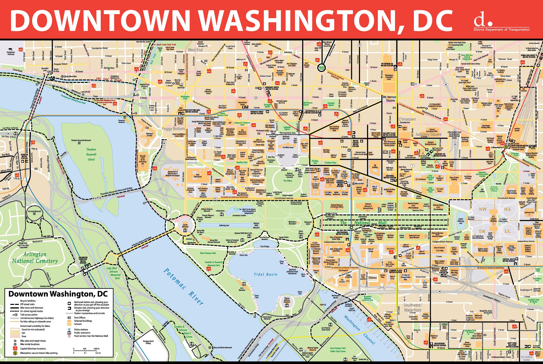 Washington D C Downtown Bike Map