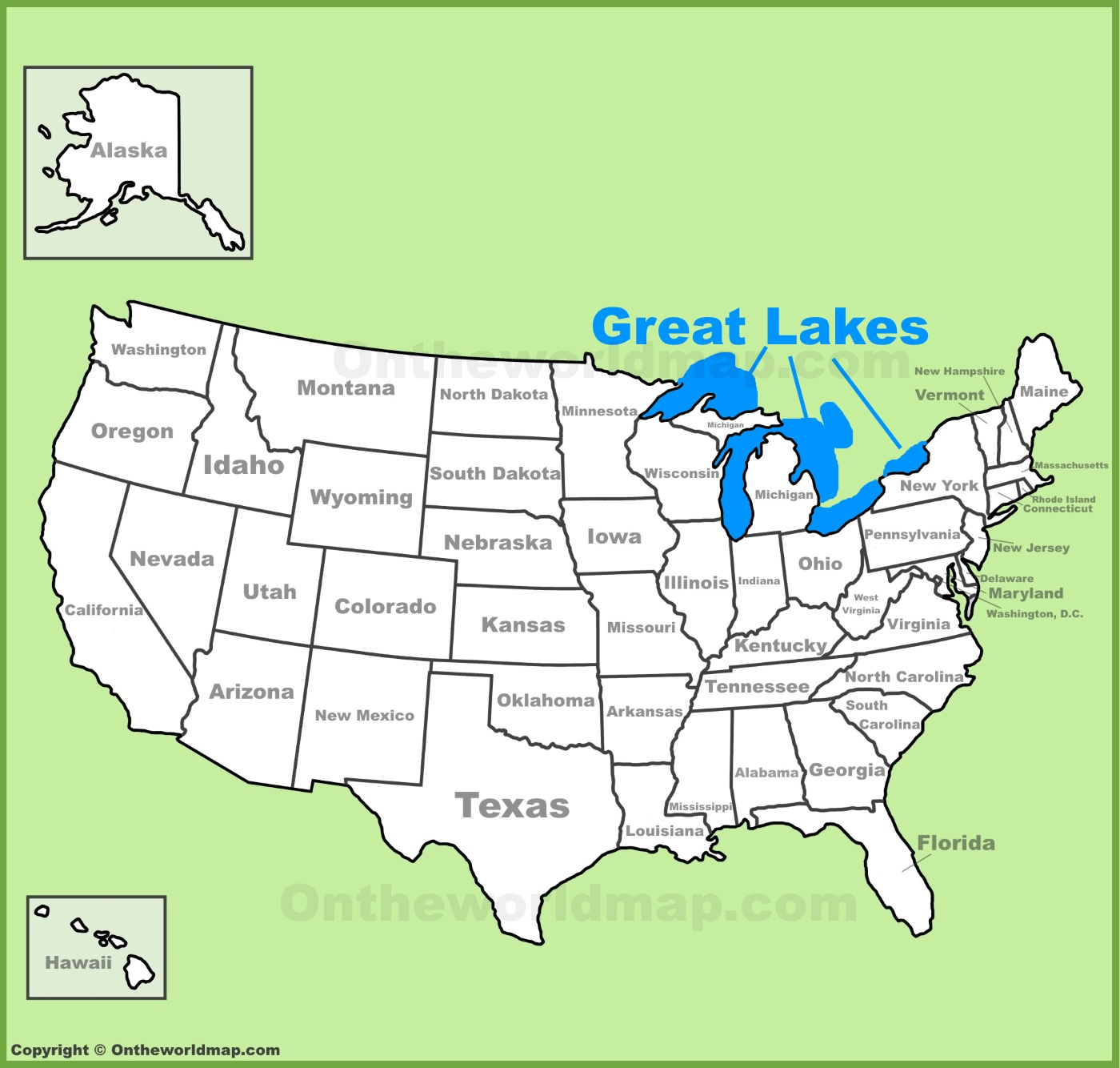 Five Great Lakes Worksheet