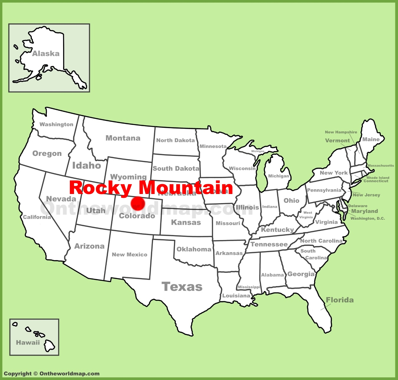 Rocky Mountains On Usa Map
