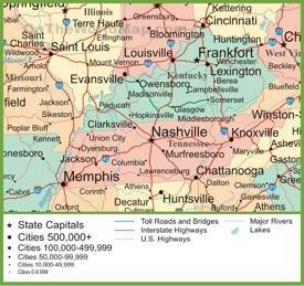 This tennessee map contains cities, roads, rivers and lakes. Tennessee State Maps Usa Maps Of Tennessee Tn