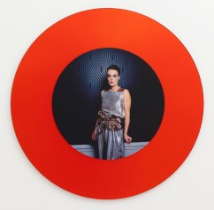 Miriam Bäckström, The Opposite of Me Is I, 2012 Glass mirror with laminate. Cibachrome on glass mirror: d 120 cm