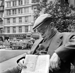 John Gay (1957 - 1962) Old man asleep on a bench