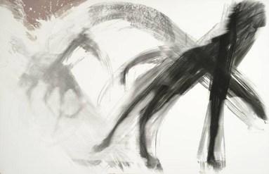 Gerald Incandela (2007) Equine Expression. Hand brushed silver gelatin print on photographic paper, 106.7 x 165.1 cm