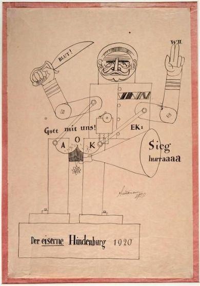 Raoul Hausmann (1920) Der eiserne Hindenburg (The Hindenburg of Iron)