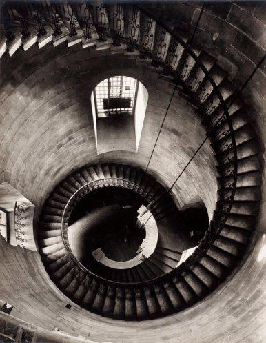 Helmut Gernsheim (1943) St. Pauls Cathedral spiral staircase, looking down, silver gelatin print 21.1 x 15.6cm