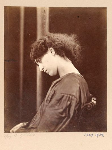 John R. Parsons (1865) Jane Morris, posed by Rossetti. Albumen print from wet collodion-on-glass negative.