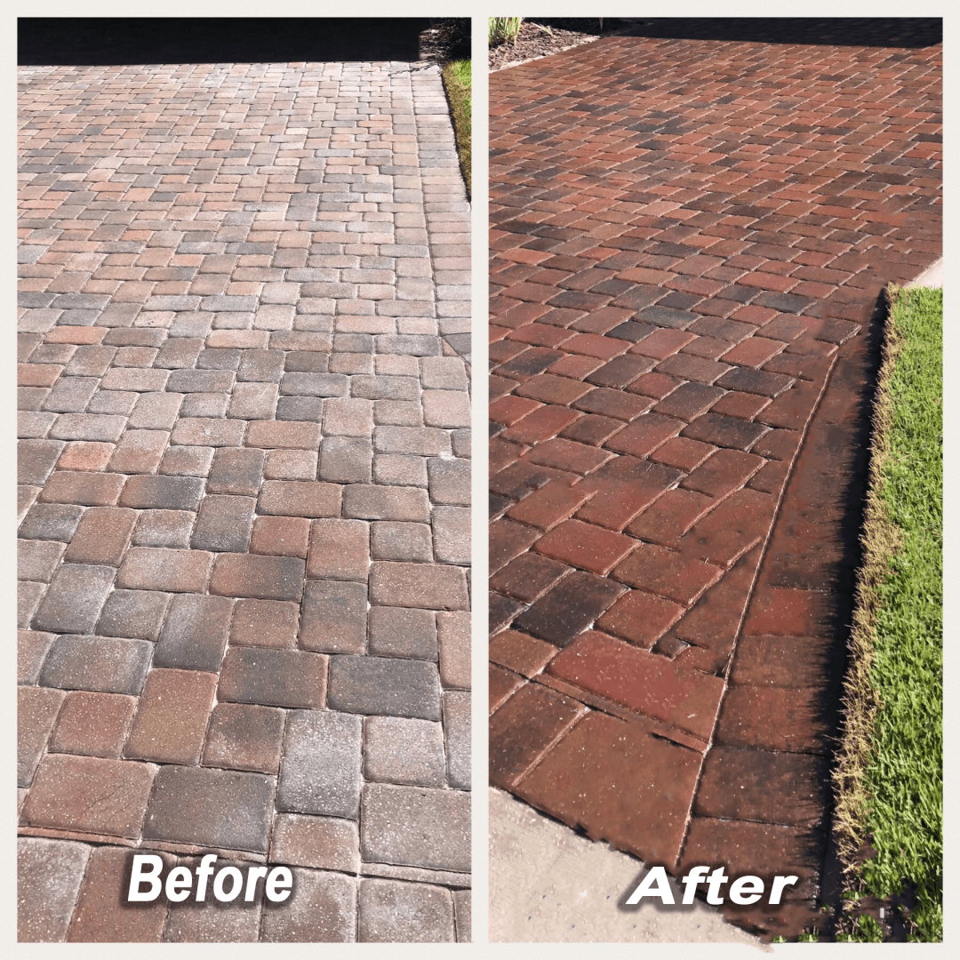 Riverview Pressure washing before and after