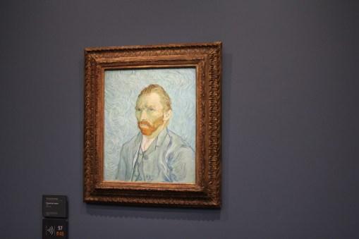 A self portrait of Vincent van Gogh