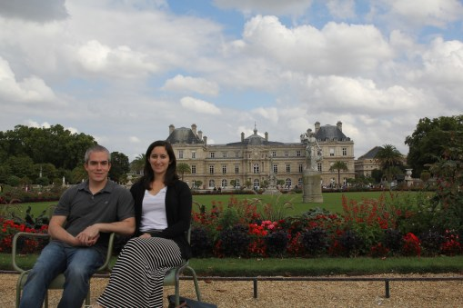 Portrait in front of our new castle...Luxembourg
