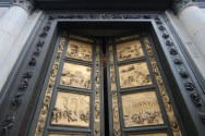 Famed doors to the Baptistery