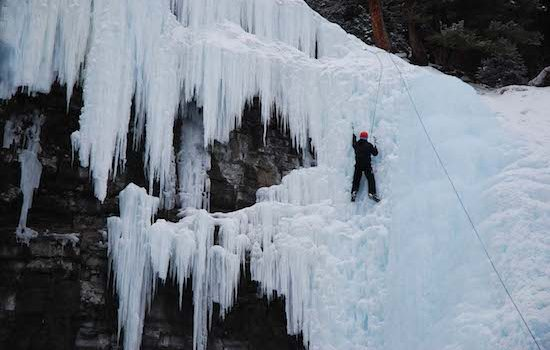 ice climbing intro course