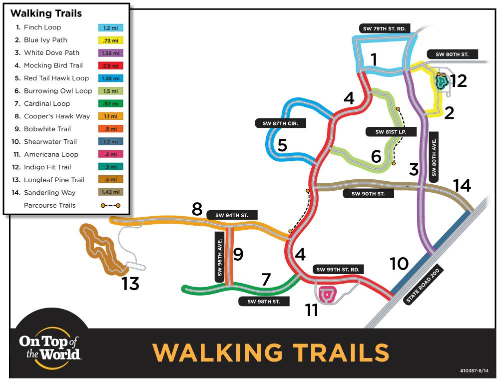 Villages Golf Trail Map Cart
