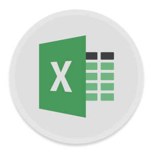 Excel icon on the grey background