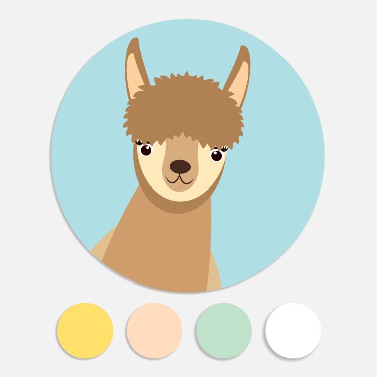 Een sticker voor een geboortekaartje maakt het totaalplaatje compleet. Deze sluitzegel past bij het geboortekaartje alpaca.