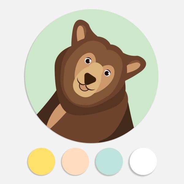 Een sticker voor een geboortekaartje maakt het totaalplaatje compleet. Deze sluitzegel past bij het geboortekaartje bosdieren