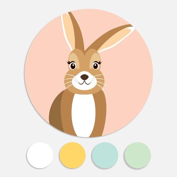 Een sticker voor een geboortekaartje maakt het totaalplaatje compleet. Deze sluitzegel past bij het geboortekaartje bosdieren.