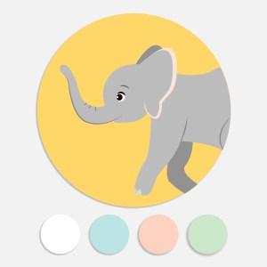 Een sticker voor een geboortekaartje maakt het totaalplaatje compleet. Deze sluitzegel past bij het geboortekaartje jungle dieren