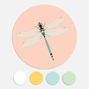 Sluitstickers libelle ontwerp door lindy geboortekaartje