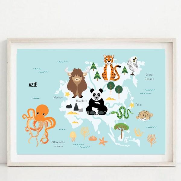 azie poster kind ontwerp door lindy blauw