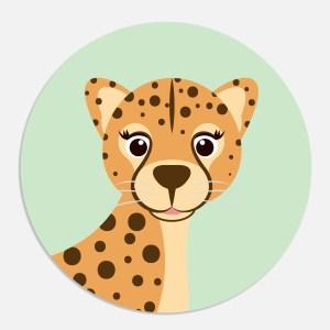 Sluitsticker luipaard ontwerp door lindy mint
