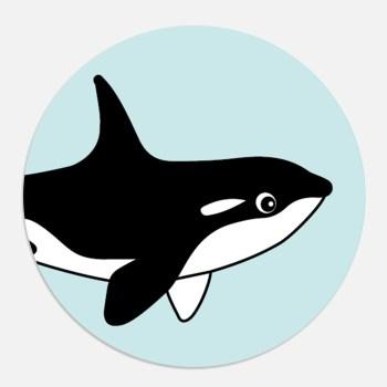 sticker orka blauw cadeau ontwerp door lindy