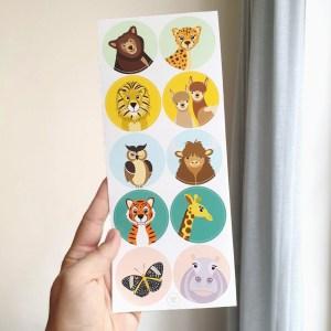 stickervel dieren ontwerp door lindy cadeau kind