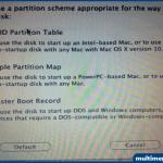 GUID Partition Table seçeneğini işaretleyip OK butonuna basıyoruz.
