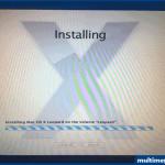 ... ve Mac Os X Leopard işletim sistemi yükleniyor. Bu işlem yarım saat kadar sürebilir.