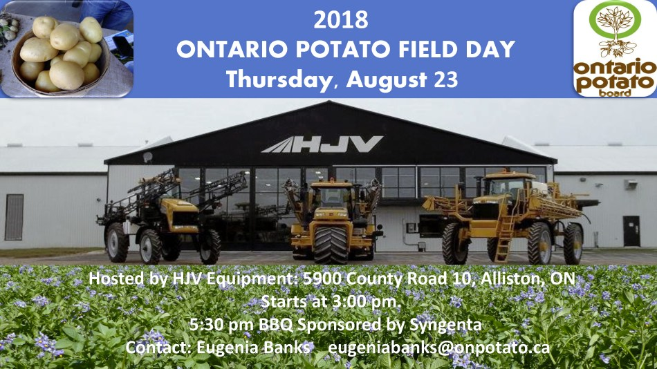 2018 ONTARIO POTATO FIELD DAY