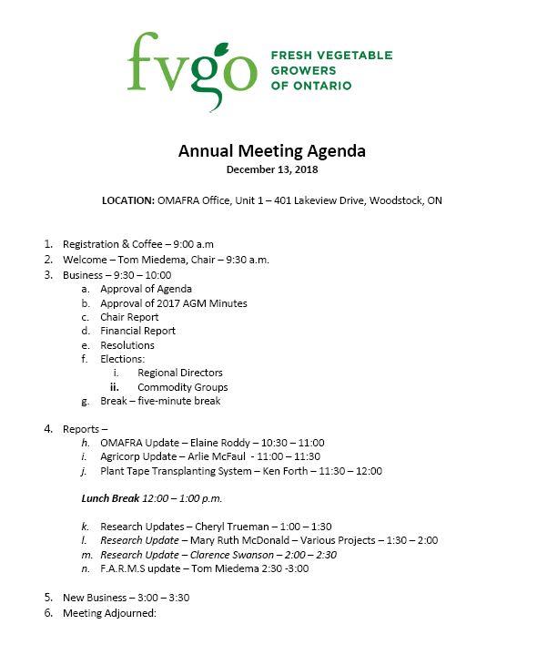 2018 FVGO agenda