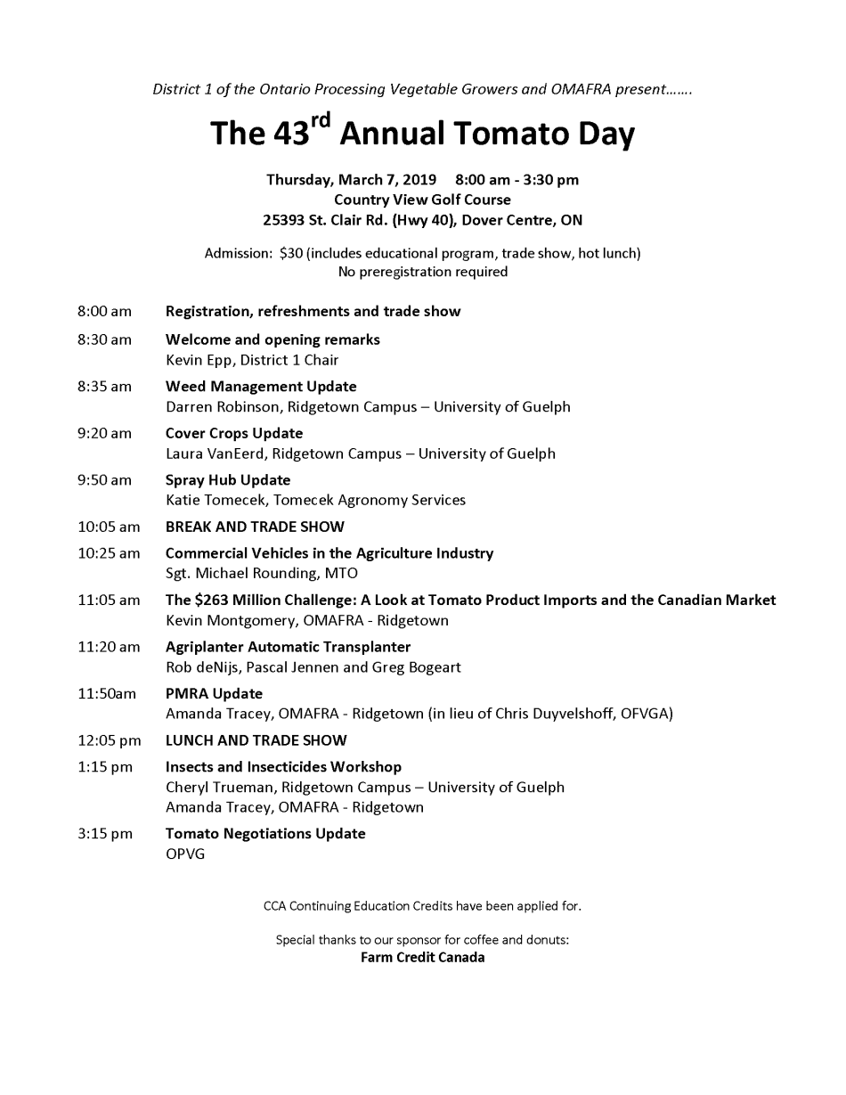 Tomato Day 2019 - Draft Agenda2