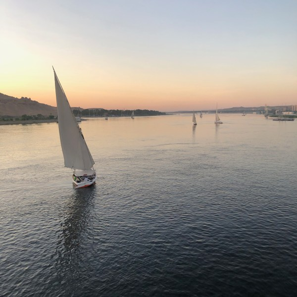 Sailboats on the Nile