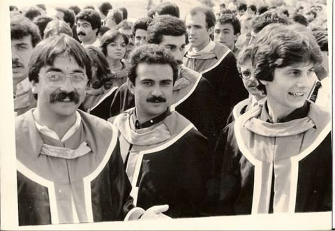 Raif Onvural at ODTU Graduation 1983