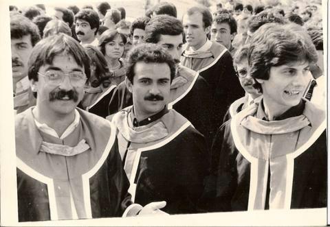 Raif Onvural at ODTU Graduation 1983