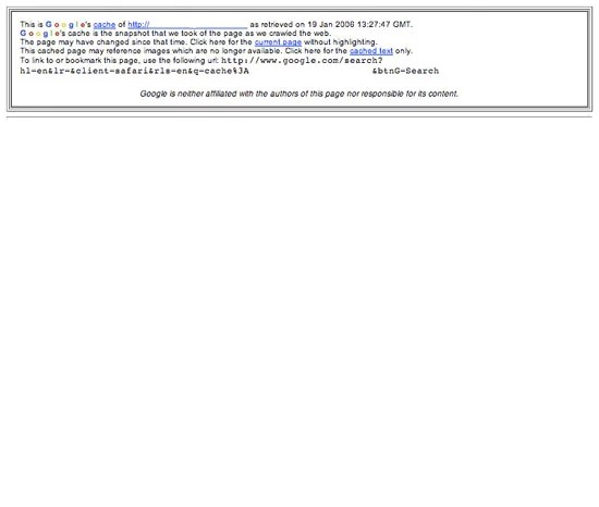 Blank Home Page