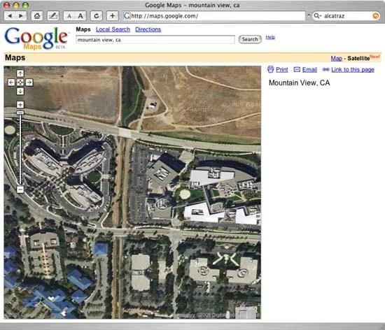 Google Map View of Google
