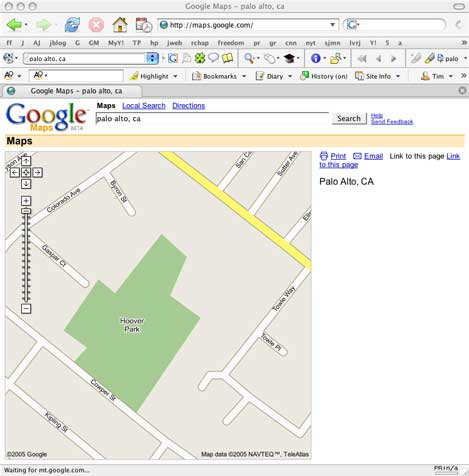 Google Map of Palo Alto