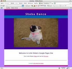 Sheba's Google Pages Web Site