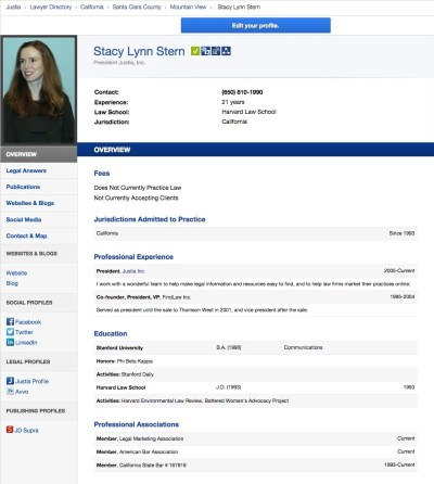 Lawyer Directory Profile