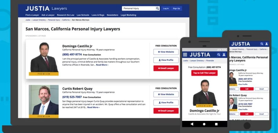Announcing Newly Designed Premium Placements on the Justia and LII Lawyer Directories