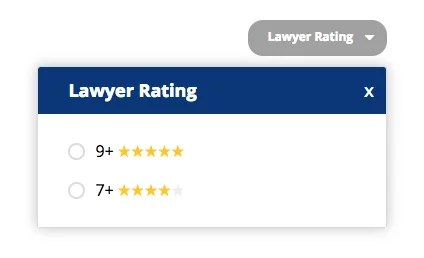 Filter by Lawyer Rating