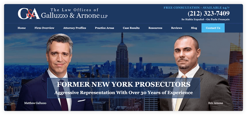 This firm chose a picture of New York City's skyline which helps them connect with their target audience.