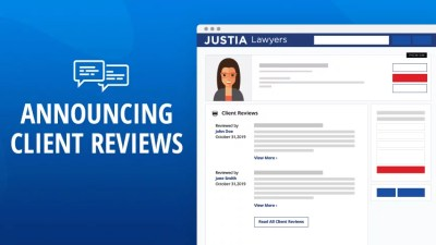 Justia Lawyer Directory Now Publishing Client Reviews