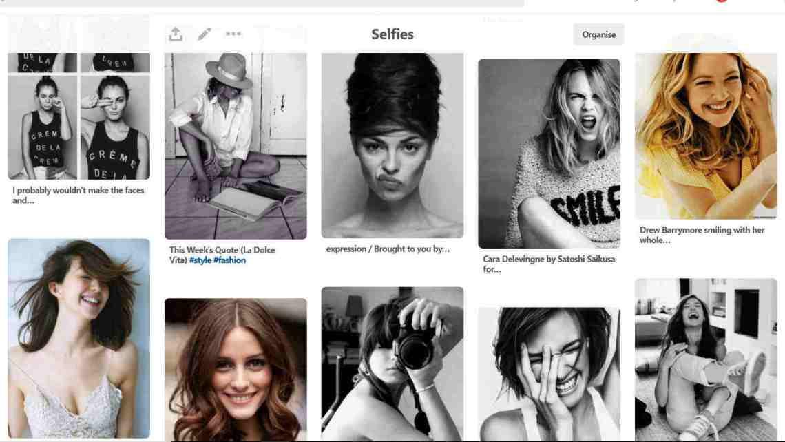Pinterest selfies